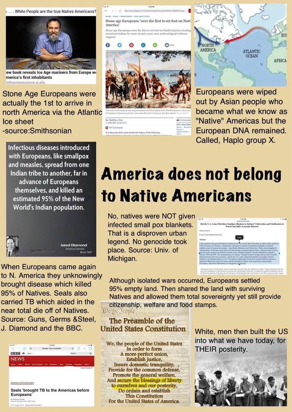 America does not belong to the Native Americans